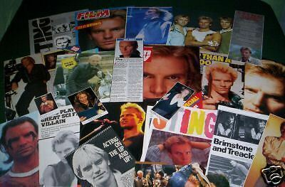 Sting - Music Celebrity - Clippings - Cuttings- Pack