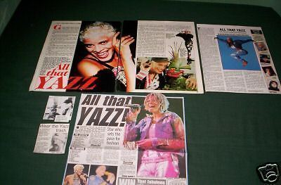 Yazz   -Music Celebrity - Clippings /cuttings
