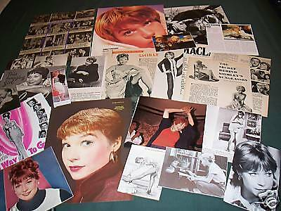 Shirley Maclaine - Film Star- Clippings / Cuttings Pack
