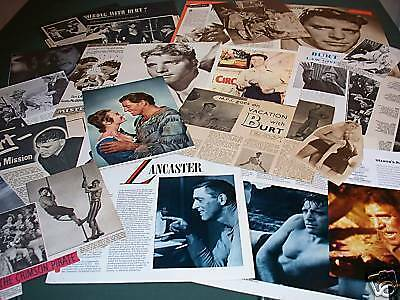 Burt Lancaster - Film Star - Clippings Cuttings- Pack