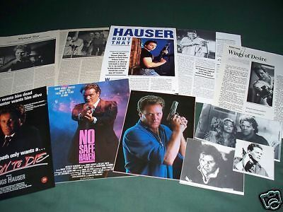 Wings Hauser  - Film Star  Clippings /cuttings Pack