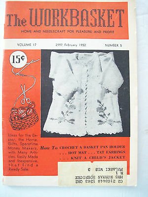 January 1960 Workbasket Knit Crochet Tat Pattern Magazine Bedspread Doily Pillow