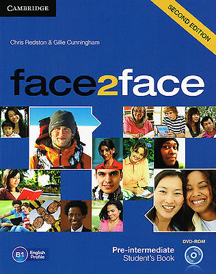 CAMBRIDGE Face2face Pre-Intermediate Student's Book w DVD-ROM 2nd Edition @NEW@