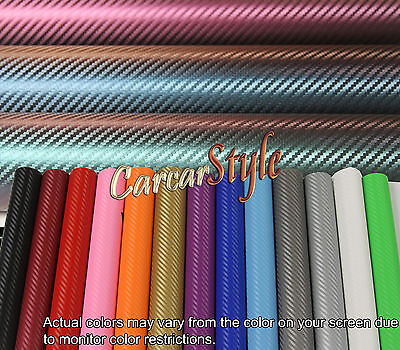 【A4 200MM X 300MM】ALL COLOUR 【Bubble Free】 Carbon Fibre Vinyl Wrap 3D Textured