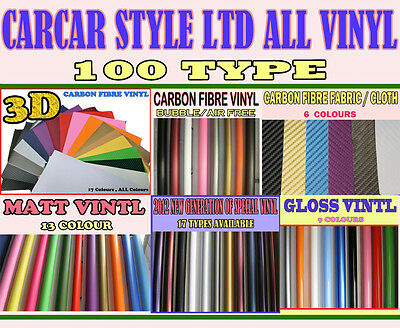 【CARCAR STYLE LTD 】ALL Colour /  Type【SAMPLE】Wrap Vinyl Film Sticker