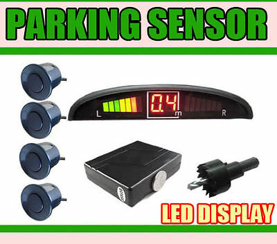 Reverse Parking Sensors 4 Sensor Kit with LED display and a buzzer---BLACK