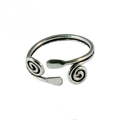 Sterling Silver Toe Ring Double Swirl Design - BOXED