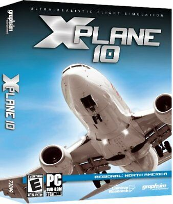 X-Plane 10 Regional North American Pc Dvd *new Factory Sealed*