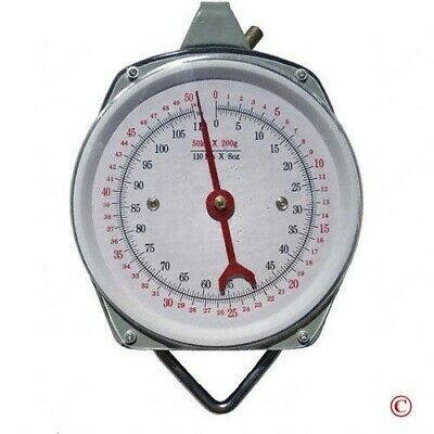 Accurate Spring Steel Scale Weighs 100 LB LBS KG Grocery Market Kitchen Scales