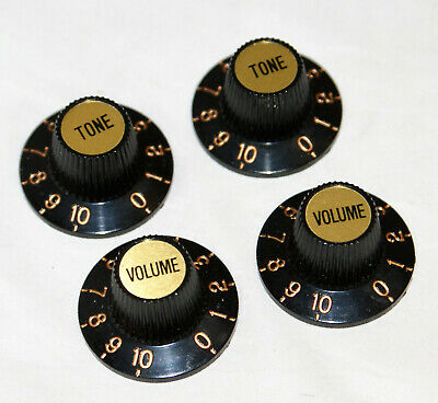 Skirted, Witch Hat Knob For Vint Fender, Gibson Les Paul Etc Vol Or Tone/gd Cap