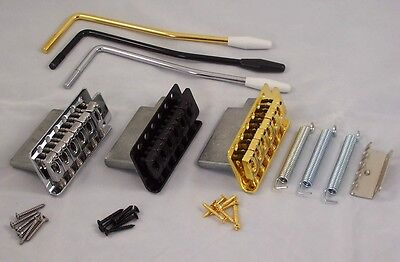 Tremolo Guitar Bridge For Fender Strat Etc / Cr/bk/gd