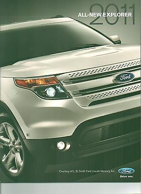 Mint Condition 2011 FORD ALL-NEW EXPLORER/XLT  BROCHURE 11