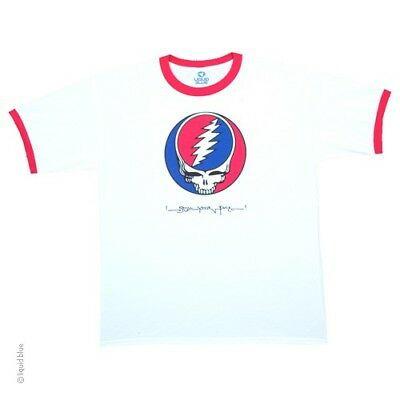 New GRATEFUL DEAD Steal Your Face Ringer T Shirt