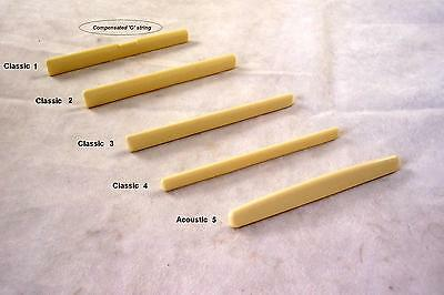 Acoustic / Classical Guitar Bridge Saddle / Choose From 5 Styles
