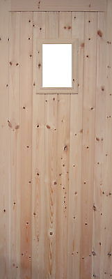 Wooden Single Door With Square Apperture  'Dilton'