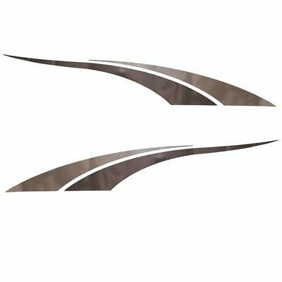 Tracker 144287/144288 Champagne/pewter 36 X 6 1/2 Inch Boat Decals (Set Of 2)