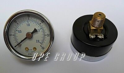 "New air pressure gauge air compressor hydraulic 1.5""face  0-30 back mnt 1/8""npt"