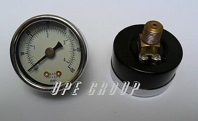 "New air pressure gauge air compressor hydraulic 1.5""face  0-60 back mnt 1/8""npt"