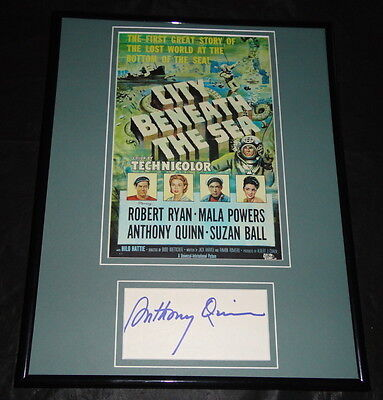 Anthony Quinn City Beneath the Sea Signed Framed 11x14 Photo Display PA