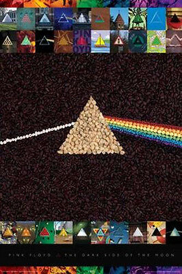 Pink Floyd - Poster - Dark Side Of The Moon Collage Logo - New Licensed Sealed