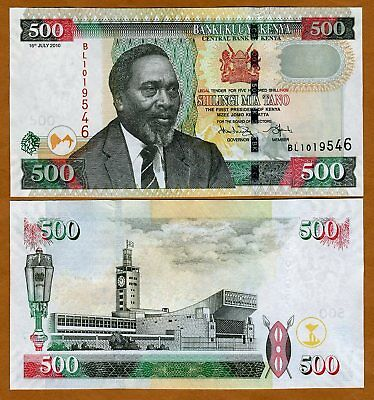 Kenya 500 shillings, 2010, Pick 50-NEW, UNC