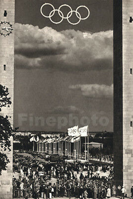 1936 Vintage Berlin GERMANY OLYMPICS Sold Out Stadium Photo Art ~ DR. PAUL WOLFF