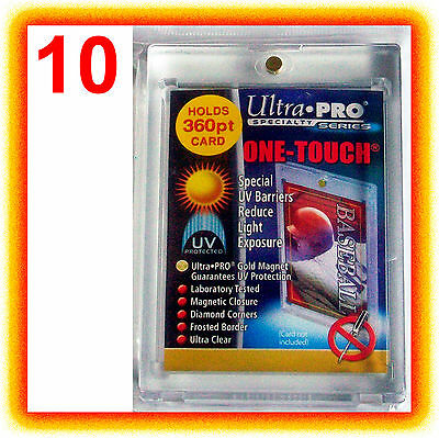 10 Ultra Pro ONE TOUCH MAGNETIC 360pt UV Card Holder Display Case 82719-UV 360