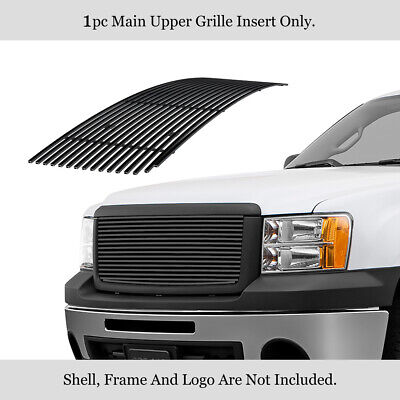 For 2007-2012 GMC Sierra 1500 New Body Style Black Billet Grille Grill Insert