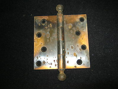"Antique Japaned Door Hinge 4""x4"" # 599-12"