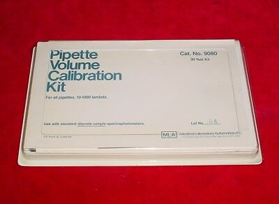 Medical Lab Automation Pipette Volume Calibration Kit 9080
