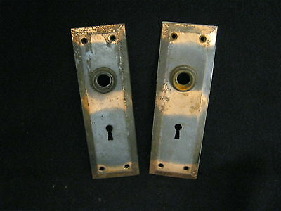 Antique Japaned Copper Flash Door Backplates  # 600-12