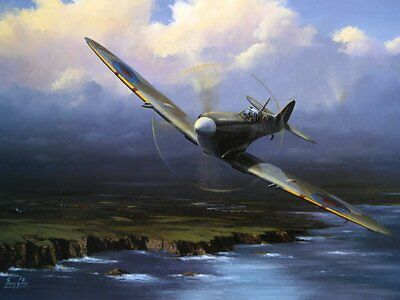 Beautiful Print Picture Painting Spitfire Entitled Coastal Patrol
