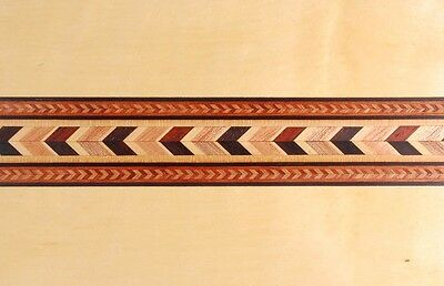 "Wide 1-1/2"" Compound Chevron  Buffard Marquetry Banding (Inlay-113)"