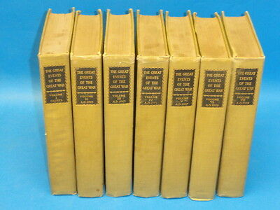 The Great Events of the Great War * 7 Volume Set * 1920 C. Horne National Alumni