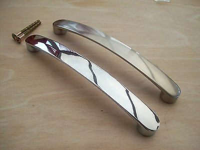 Chunky Flat Metal D Bow Kitchen Door Cupboard Cabinet Drawer Pull Handles