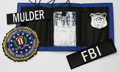FBI Federal Bureau of Investigarions Fancy Dress COSTUME SET - The X-Files...