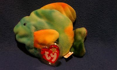 TY CORAL the FISH BEANIE BABY - MINT with MINT TAGS - BEAUTIFUL C21