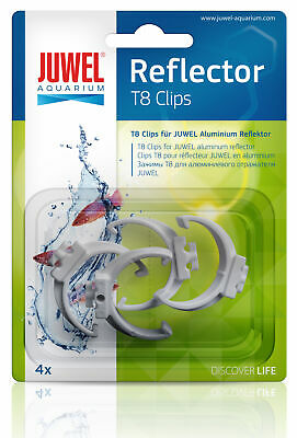 Juwel Aquarium Spare T8 Plastic Reflector Clips 4 Pack Fish Tank 94025