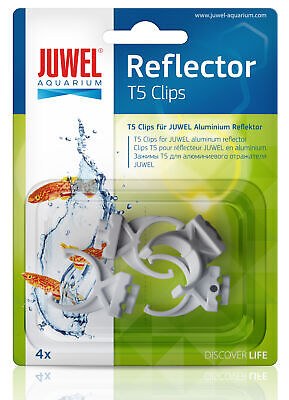 Juwel Aquarium Spare T5 High-Lite Plastic Reflector Clips 4 Pack Fish Tank 94030