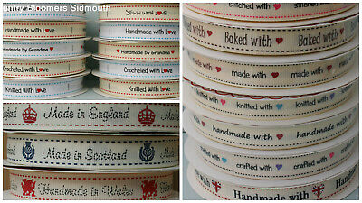 With Love ~ Grosgrain Ribbon / Sewing Label ~ Made in England / Wales / Scotland