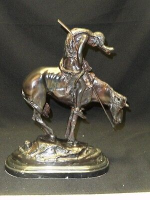 """MAGNIFICENT James Earle Fraser BRONZE SCULPTURE """"END OF THE TRAIL"""""""
