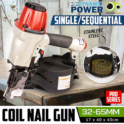 Coil Nail Gun Nailer Industrial Grade Air Tools 32-65mm PRO-Series
