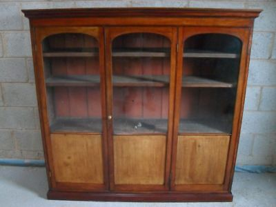 Superb Victorian Mahogany half glazed concertina door adjustable bookcase
