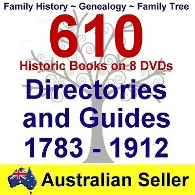 Family History Tree Genealogy England Scotland Directories Guides 8 DVDs