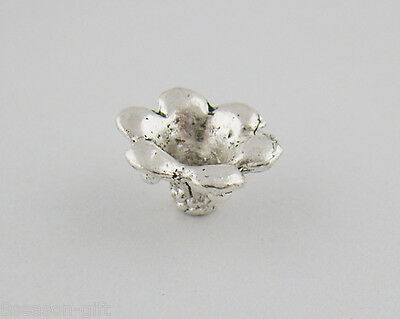 75PCs Silver Tone Morning-Glory Spacer beads 5*10mm