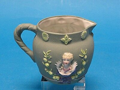 Amazing Antique French Bisque Creamer With Relief Of Josephine Bonaparte 1804