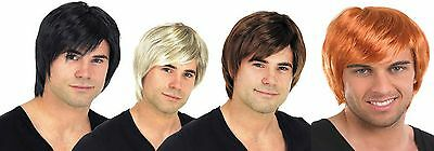 New Mens Adult Male Guy Boy Band 60s 70s 80s Short Wig For A Fancy Dress Costume