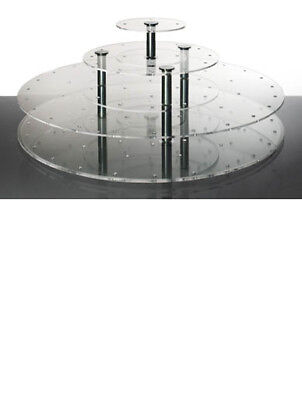 Cake Pop 3 Tier Round Stand Clear Wedding Acrylics Medium