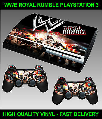 Playstation 3 Console Sticker Wwe Royal Rumble Style Skin & 2 Controller Skins