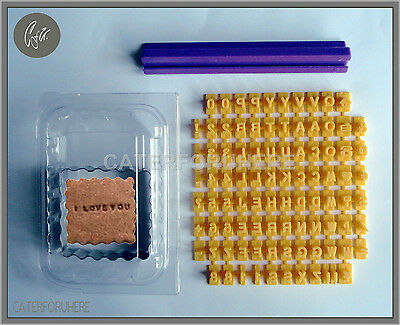 Biscuit Cookie Alphabet Letter Numbers Stamp Embosser + Cutter Cake Decorating
